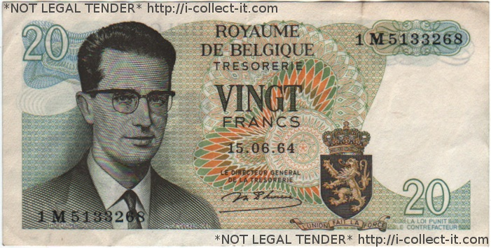 NOT LEGAL TENDER (because a) this is an old bill and b) it's actually digital)
